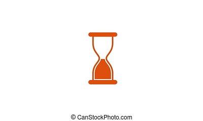 mouche, orange, sable, dehors, horloge
