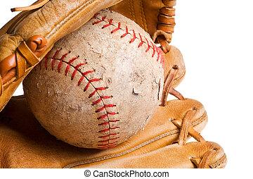 moufle, base-ball, isolé