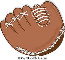 moufle, base-ball, ou, gant