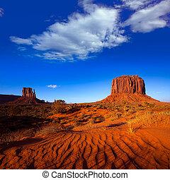 moufle, dunes, ouest, utah, merrick, sable, monument, butte,...