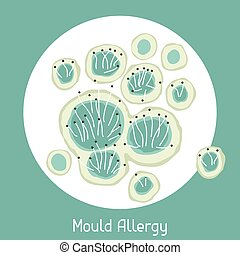 Mould allergy. Vector illustration for medical websites...