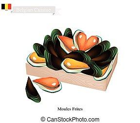 Moules Frites, A National Dish of Belgium - Belgian Cuisine,...