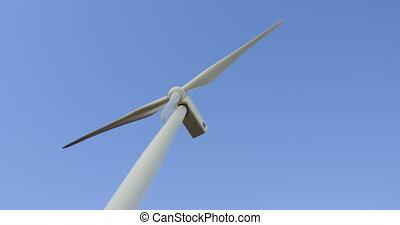 moulin, ciel, vent, contre, 4k