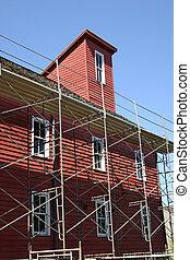 moulin, construction, sous