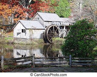 moulin, mabry, automne