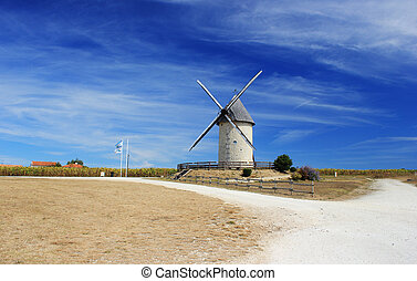 Moulin ? vent - Located in front of the Antilles of Jonzac, ...