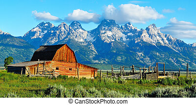 A picture of the Tetons is not complete without the iconic Moulton Barn in the foreground. Actually, there are two barns about a quarter mile apart on the old Moulton Ranch. This is the northernmost barn.