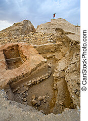 Mound Jericho - Old ruins and remains in Tell es-Sultan...