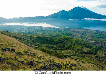 Mount Agung - Landscape of Agung volcano on Bali island,...