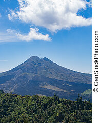 Mount Agung volcano on the Bali island, Indonesia