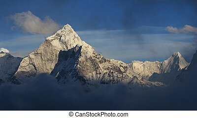 Mount Ama Dablam just before sunset