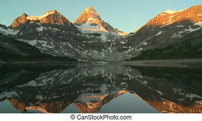 Mount Assiniboine in morning light - Mount Assiniboine and...