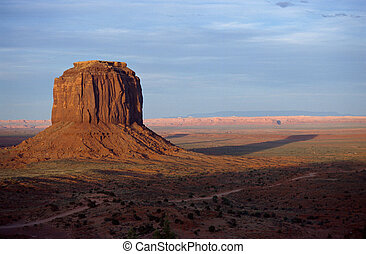 Mount at monument valley by sunset, USA
