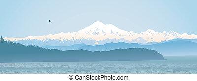 Mount Baker, Washington State panoramic - Mount Baker,...