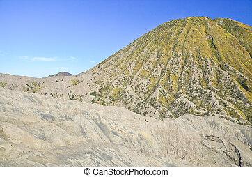 Mount Batok volcanoes in Bromo Tengger Semeru National Park...