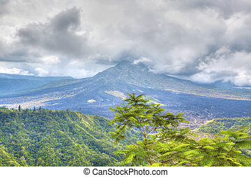 Mount Batur - View of the still active Mount Batur in Bali
