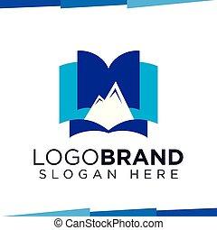 Mount Book logo vector template