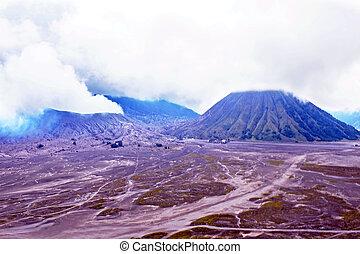 Mount Bromo volcano in Bromo Tengger Semeru National Park, ...