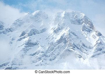 Mount Cascade near Banff in the Canadian Rockies