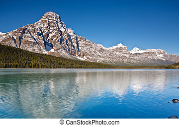 Mount Chephren and Waterfowl Lake, Canada - Mount Chephren...