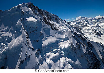 Mount Cook aerial photo - Aerial photo of Mount Cook....
