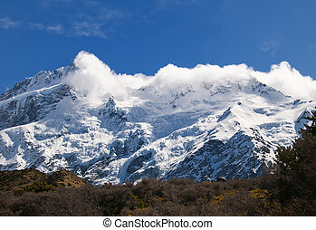 Mount Cook in New Zealand - Highest Mountain in NZ