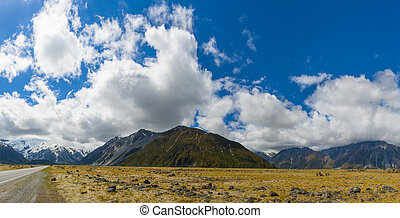 Mount Cook - Mighty Mt. Cook is appearing from the clouds at...