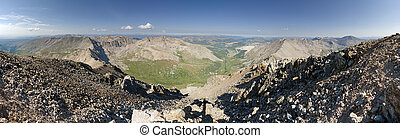 Mount Democrat Summit Panorama - panorama from the summit of...