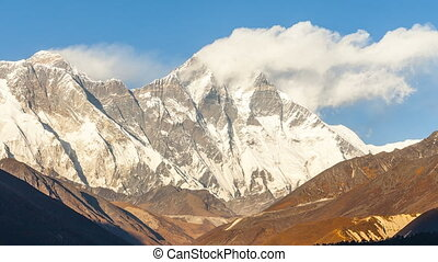 Mount. Everest, 8845m highest mountain. - Mount. Everest,...