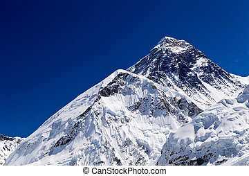 Mount Everest Summit in Himalaya Mountains, Nepal