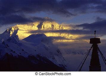 Mount Everest(8848.13M)in Tibet