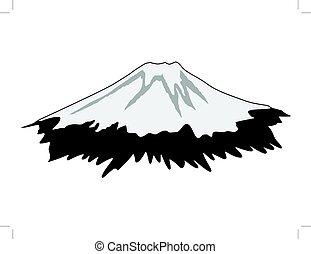 Mount Fuji - silhouette of Mount Fuji