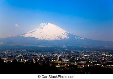 Mount fuji from a hill