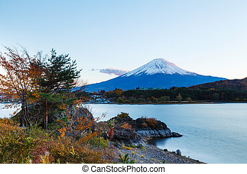 Mount Fuji from Kawaguchiko lake