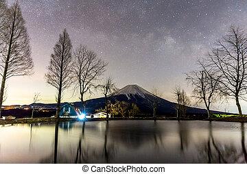Mount Fuji Fujisan star - Mount Fuji Fujisan with Star and ...