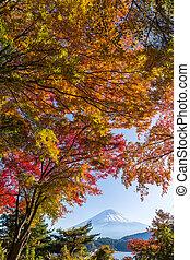 Mount Fuji in Autumn season of Japan