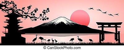 Mount Fuji, landscape