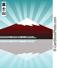 mount Fuji - vector illustration of the Fuji mountain