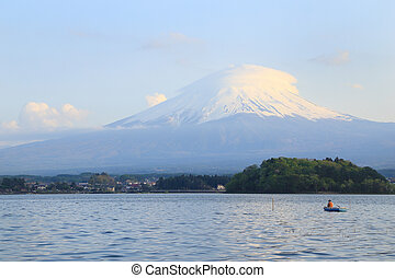 Mount Fuji, view from Lake Kawaguchiko, Japan