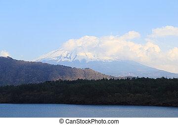 Mount Fuji, view from Lake Saiko, Japan