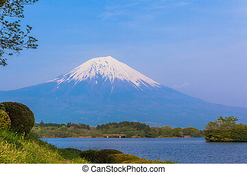 Mount Fuji view from Lake Tanukiko