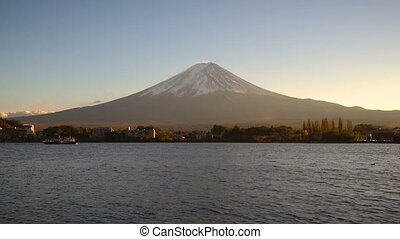 Mount Fuji , Japan - Lake Kawaguchiko is one of the best places in Japan to enjoy Mount Fuji scenery near Tokyo.