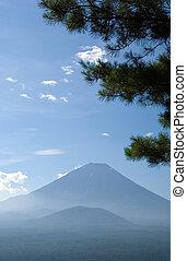 Mount Fuji with pine tree