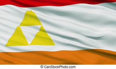 Mount Henadas Micronation Close Up Waving Flag - Mount...