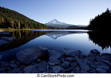 Mount Hood and Trillium Lake in the Mount Hood National...