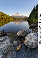 Mount Hood Reflection at Trillium Lake