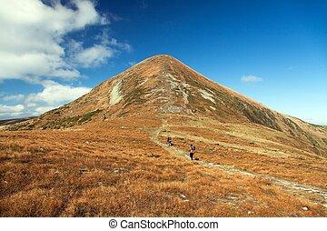 Mount Hoverla or Goverla, the highest Ukraine Carpathian mountains