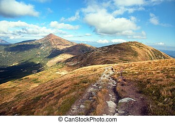 Mount Hoverla or Goverla, Ukraine Karpathian mountains, the highest mount of Ukraine
