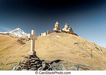 Mount Kazbek - Wonderful nature of the Georgian Tbilisi...