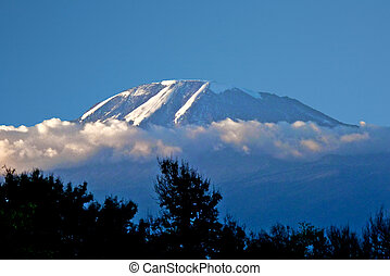 Mount Kilimanjaro covered with snow